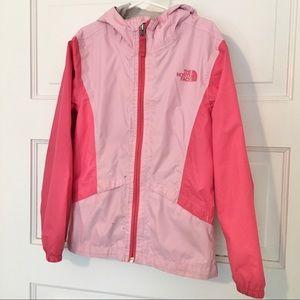 North face two tone pink windbreaker rain jacket